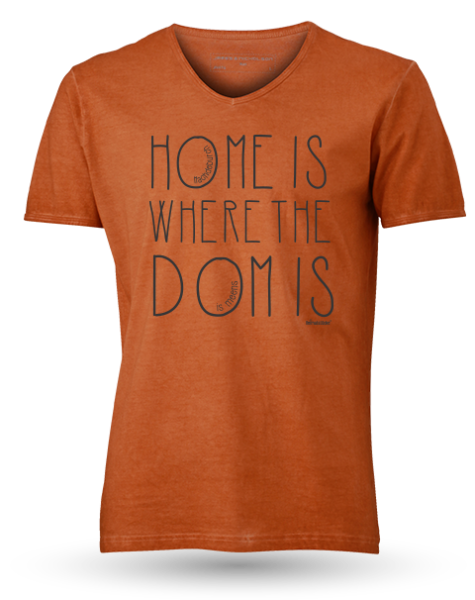 "MEN'S GIPSY V-NECK ""Home is where the Dome is"""