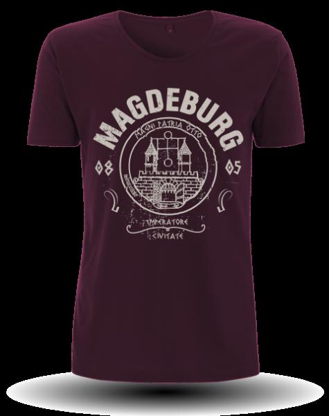 "Men`s Roll Up Sleeve T-Shirt ""Magdeburg"""