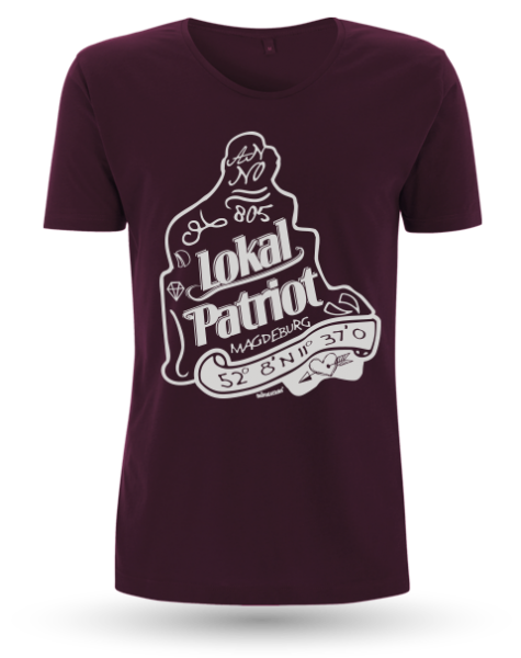 "Men`s Roll Up Sleeve T-Shirt ""Lokal Patriot"""