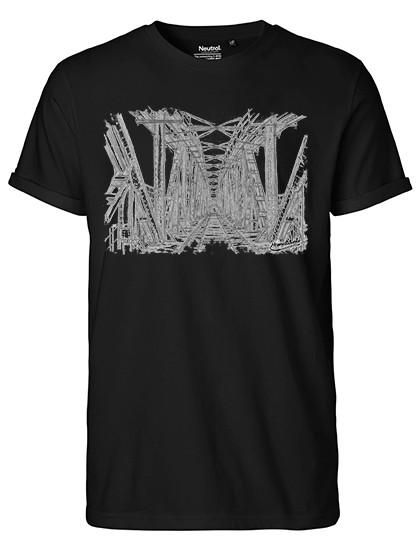"""Men`s Roll Up Sleeve T-Shirt """"Hubbrücke"""""""